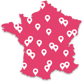 carte des points de vente du programme Fit & Slim